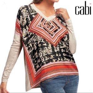 Tops - Cabi Aztec print scarf top